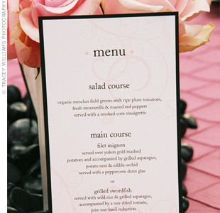 Menu Cards Do You Need Them For The Wedding Reception